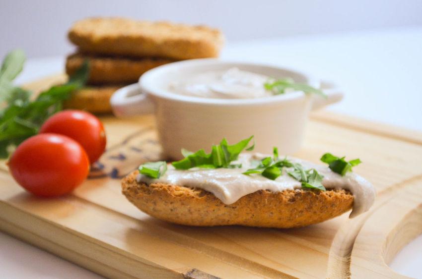 Arugula Bread Food Meal Pate Tomato Tuna