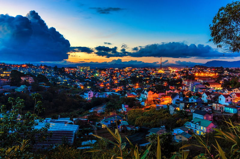Da Lat city is in sunset City City Dusk City Sunset City Sunsets City Twilight Cityscape Cloud - Sky Crowd Da Lat City Dalat City Dalat Lamdong Dalat Vietnam Landscape Night Outdoors People Scenics Sky Sunset Travel Destinations Twilight Landscape Urban Skyline Vacations
