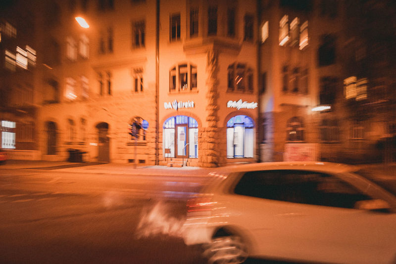 Architecture Motion Blurred Motion Built Structure Building Exterior City Night Transportation Illuminated Street Car Mode Of Transportation Motor Vehicle Long Exposure Land Vehicle City Life Road Building Window on the move Outdoors