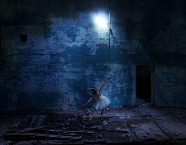 Прикосновение тишина Ночь танец балет Colour Palette