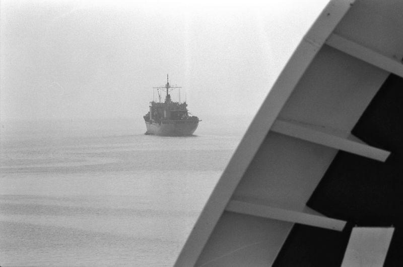 35mm Film 70s EyeEm Gallery From My Point Of View Transportation Blackandwhite Blackandwhite Photography Day Details Habib Maritime Photography Motorship Nautical Vessel Noiretblanc Sea Shipdetail Water Film Photography