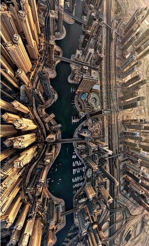 Дубай Dubai ВИД СВЕРХУ Nice
