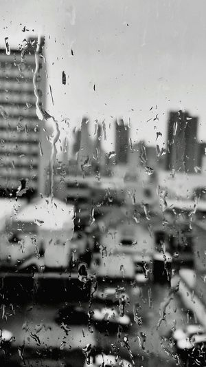 Yesterday Rain Rainy Days☔ Black And White