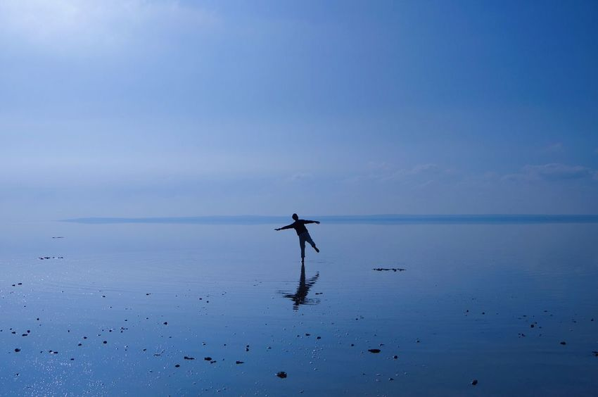 tuz lake Water Sky Standing Scenics Silhouette Beauty In Nature Nature Day Blue Sea