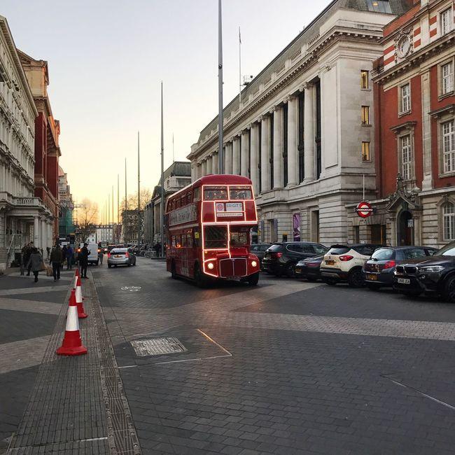 Double Decker Bus Red Road London Kinky Light