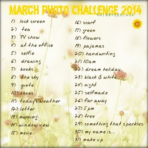 I did my own one because on everyone there is something I can't do ^^' Marchphotochallenge 2014