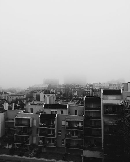 First Eyeem Photo Montreuil  Building Fog Brouillard Urban Cityscape Hlm Nb  Noir Et Blanc Black And White Buildings