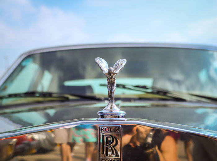 First Class Car Car Interior Close-up Control Panel Dashboard Day Expensive Focus On Foreground Glass - Material Land Vehicle Mode Of Transportation Motor Vehicle Nature No People Outdoors Prestige Reflection Rols Roys Rolsroyce Sky Transparent Transportation Vehicle Interior Windshield
