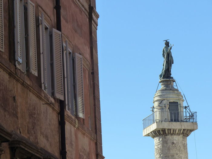 Architecture Blu Sky Building Exterior Built Structure Day End Of Column History Italy Low Angle View No People Rome Statue