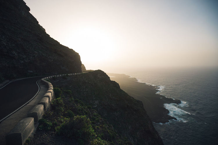 Tenerife Ocean Ocean View Oceanside Road Travel Travel Destinations Traveling Nature Nature_collection Nature Photography Naturelovers View Landscape Landscape_Collection Sunset Summer Sun Sunrise Sky Water Scenics - Nature Mountain Beauty In Nature No People