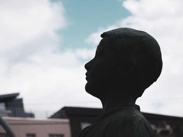Close-up of statue against sky