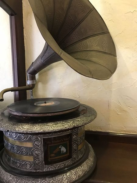 High Angle View Indoors  Antique Old-fashioned No People Day His Master's Voice Gramophone Hmv