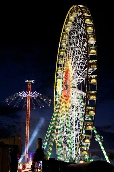 Cranger Kirmes  Nightphotography Fair Big Wheel