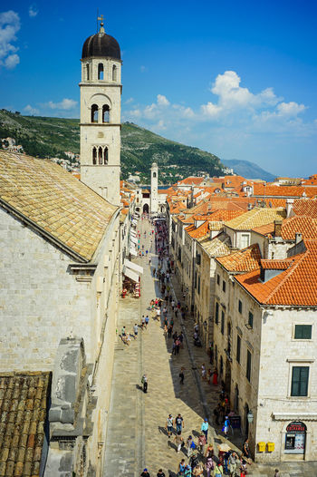 Old town of Dubrovnik, Croatia Architecture Built Structure Building Exterior Building Sky Religion Place Of Worship Belief Cloud - Sky City Spirituality Crowd Nature Large Group Of People The Past Group Of People Tower Outdoors Game Of Thrones Old Town, Dubrovnik.