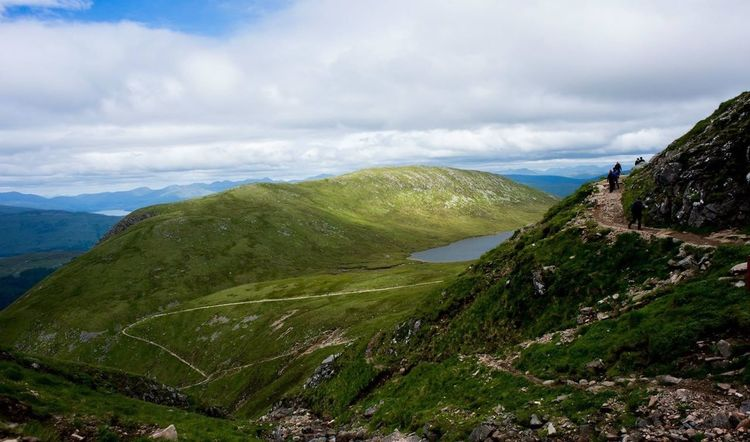 Amazing Highlands- Fort williams. View while hiking Ben Nevis Travel Travel Photography Scottish Highlands