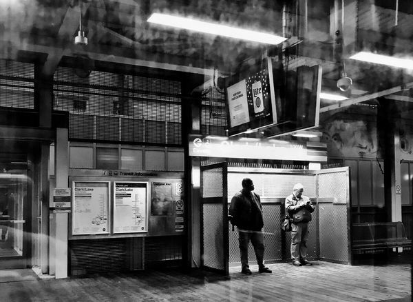 Scenes from the CTA Train Chicago Blackandwhite Streetphotography