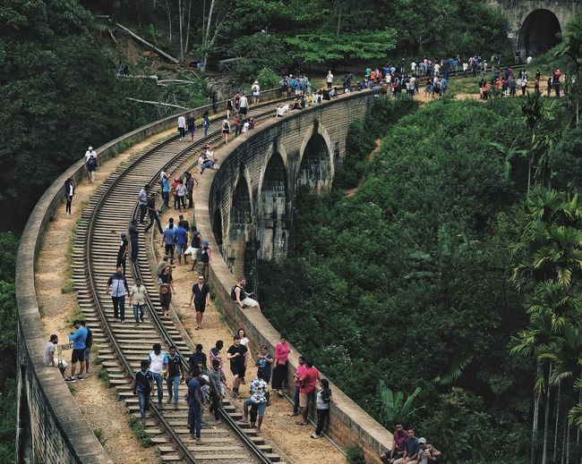 Panoramic view of the 7 archs bridge in sri lanka