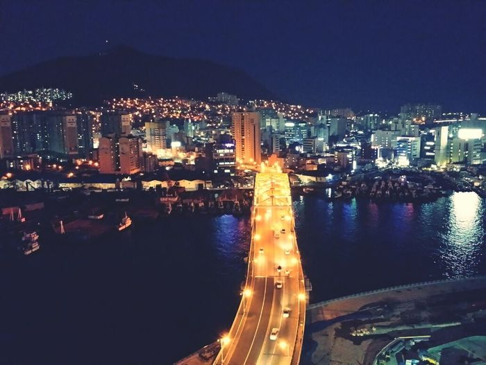 Busan with my friendNight Lights Sightseeing Taking Photos Enjoying The View