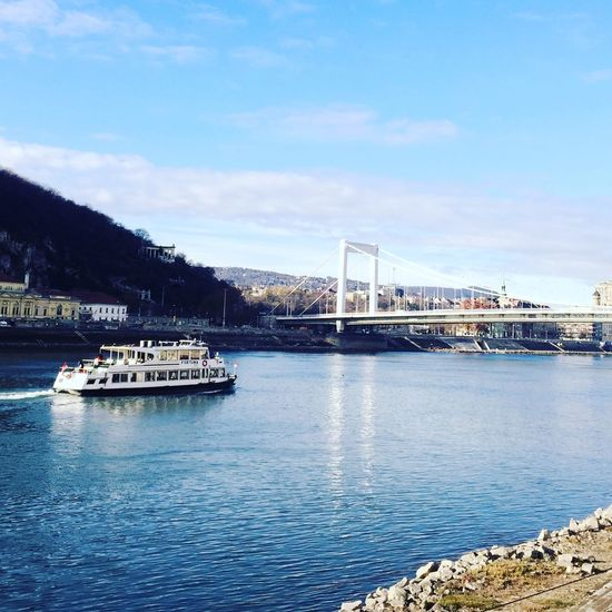 Danube Danube River Autumn Water River Bridge Boat Saling Cityscapes Noon Bund Sunny Budapest Hungary Iloveit Crazyabout Walking