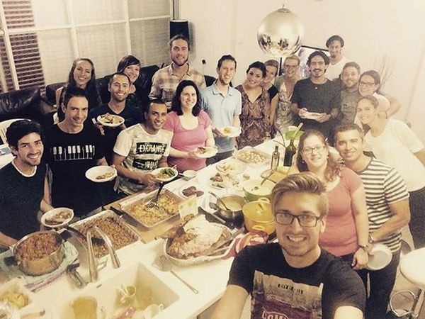 What an awesome thanksgiving in Telaviv with these folks! Thanksgiving Yesterday Turkey Dinner Amazing Peps Enjoy Israel