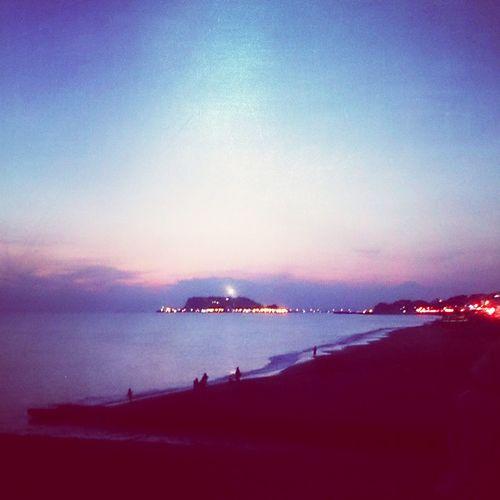 Japan Kanagawa Koshigoe Enoshima Lightup Sea Surf Beach Beautiful