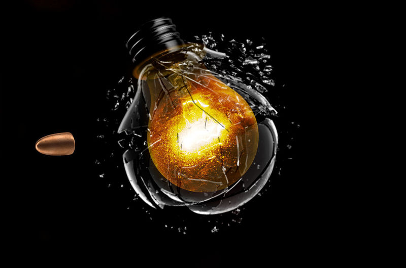 Missile Black Background Breaking Bulb Bullet Close-up Copy Space Electricity  Exploding Filament Food Food And Drink Glass Glass - Material Illuminated Indoors  Light Bulb Lighting Equipment Motion No People Projectile Single Object Still Life Studio Shot Technology