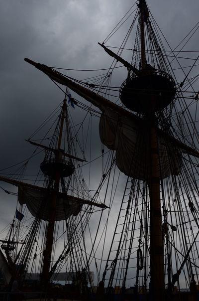 Boat Dusk Harbor Mast Nautical Vessel Sailboat Sailing Ship Ship Silhouette Twin Mast