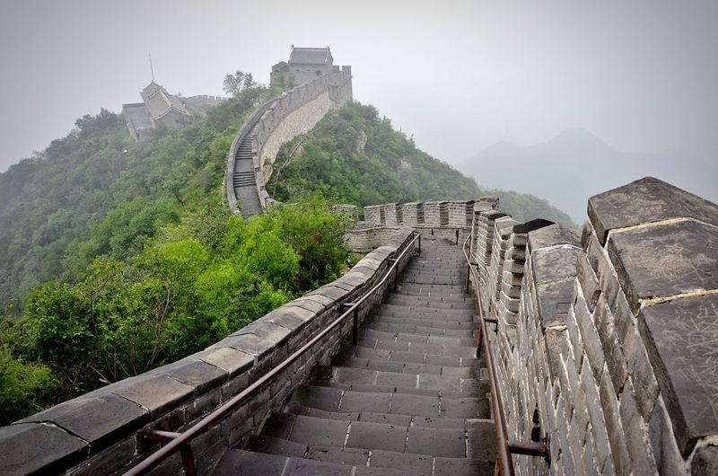 Big WallCultures Travel Travel Destinations No People Outdoors Steps Tree Winding Road Urban Skyline Architecture Vacations Bridge - Man Made Structure Nature Sky Day BEIJING北京CHINA中国BEAUTY