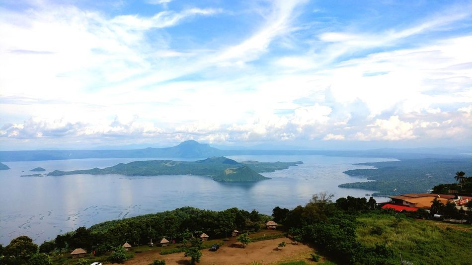 The beauty of Taal Vacation Destination Cloud - Sky Water Outdoors Landscape Horizon Over Water No People Scenics Nature Mountain Volcano Lake Lake View Taal Lake Taal Volcano Philippines Caldera Volcano