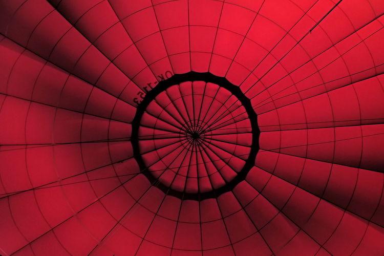 Full frame shot of hot air balloon