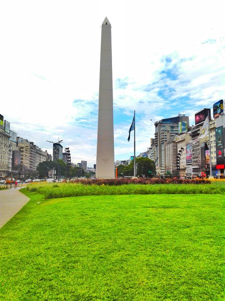 Obelisco Travel Destinations City Sky Architecture Green Color Cityscape Day Nature City Life Built Structure Cloud - Sky Building Exterior EyeEmMagazine EyeEm Buenos Aires, Argentina  Culture And Tradition Obelisco, Buenos Aires 🌆