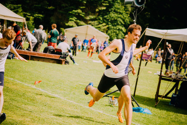 Events Finish Line  Fun Highland Games Leisure Activity Lifestyles Real People Running Scotland Sport Sports Sports Photography Tradition