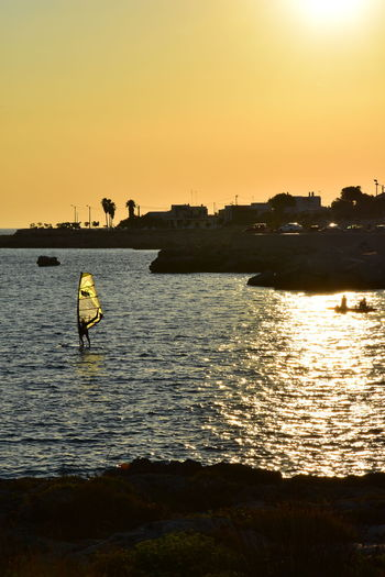 Sunset Silhouette Sea Tranquility Beach Summer Memories 🌄 Italy Holidays Salento Puglia S. Maria Al Bagno Reflection Thepuristnofilternoedit Nikon D7200 Scolpire Con La Luce Sculpted By Light Golden Hour Golden Light Your Ticket To Europe The Week On EyeEm Paint The Town Yellow Summer Exploratorium