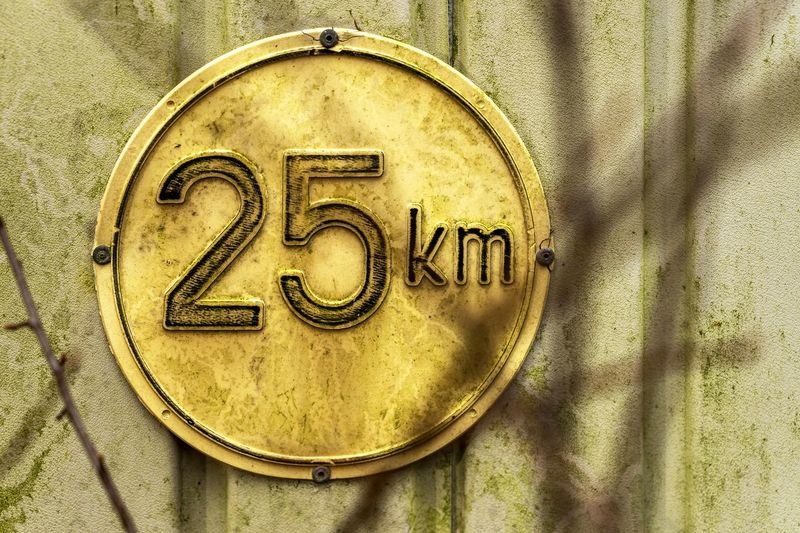 2⃣5⃣ Close-up Day Kilometers Km No People Number Outdoors Speed Speed Limit Traffic The EyeEm Collection Premium Collection Getty Images EyeEm Germany Road Sign Traffic Sign Dirty Light And Shadow Close Up Warm Colors Street Photography Street Streetphotography Security