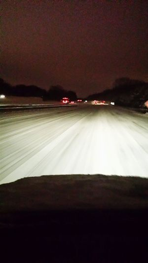 Driving Home Night Driving  Parkway Drive Home Jersey Nightphotography Snow