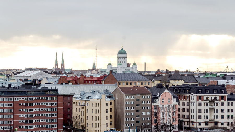 Helsinki Cathedral Against Sky In City