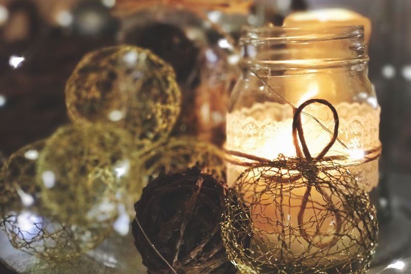 Close-up No People Indoors  Freshness Day Candle Night Horizontal Color Image Photography Art And Craft Glass Tranquility Warm Fragility Lifestyle Orange Color City Life Night Life Restaurant Arts Culture And Entertainment
