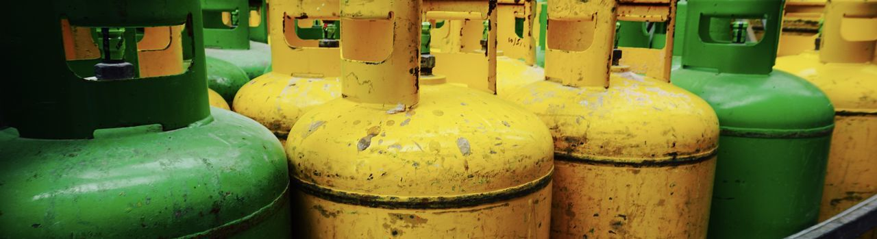 European City of Culture 2018 Gas Cylinder Green Industry Close-up No People Steel Tank Yellow