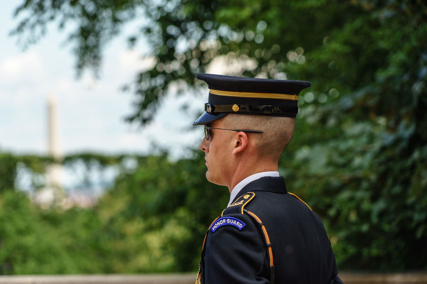 Arlington  Arlington National Cemetary Arlington National Cemetery Casual Clothing Close-up D.C. Day Focus On Foreground Headshot Honor Guard Honour Guard Human Face Leisure Activity Lifestyles Nature Outdoors Portrait Selective Focus Tomb Of The Unknown Soldier Tree Unknown Soldiers USA Virginia Washington