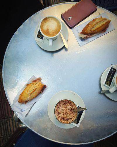 Desayuno express Food And Drink Coffee - Drink Bread Food Breakfast First Eyeem Photo EyeEm Selects Cityscape EyeEmNewHere Breathing Space