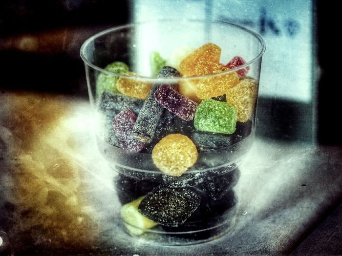 Candy Time Candylicious Drinking Glass Yummy Sweetsour The Week On EyeEm Delicious Dessert Goodies Foodies Plastic Glass Close-up Colourful Sweets Sugar Coated Sour Sweet Salty Sweets