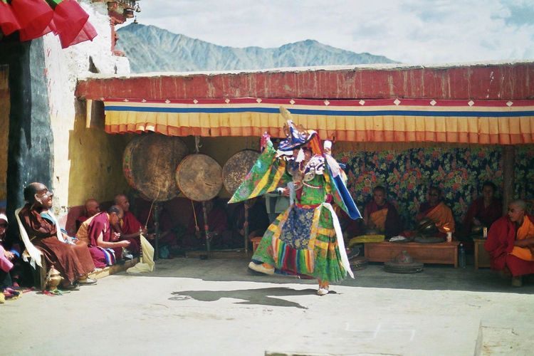Performers At Monastery In Ladakh
