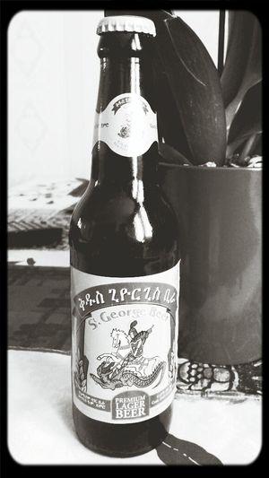 Having A Drink Drinking Beer St George Beer Ethiopia