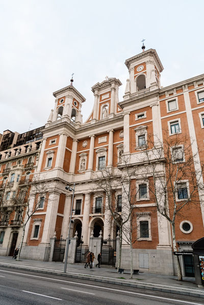 Church in Serrano Street in Madrid Jesuits Church Serrano Serrano Street Architecture Belief Building Building Exterior Built Structure City Day History Incidental People Jesuits Low Angle View Nature Place Of Worship Religion Road Sky Street The Past Transportation Window