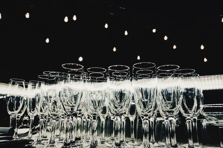Glass Bar Bartender Light Like Sky No People In A Row Arrangement Night Indoors  Water Large Group Of Objects Illuminated Close-up Chile♥