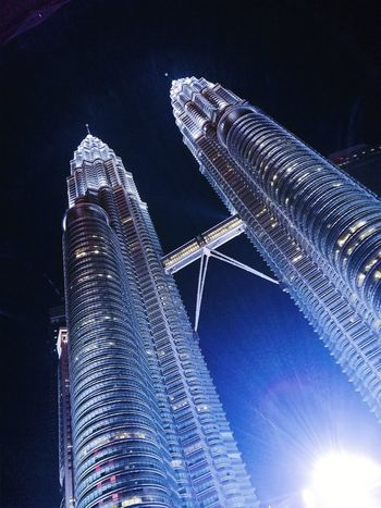 Night View Of City Malaysia KLCC Tower
