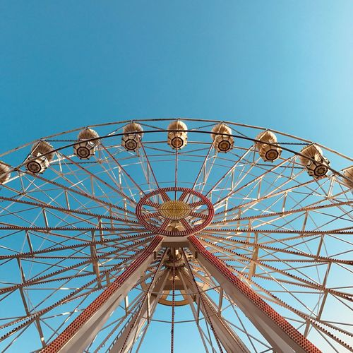 🎡 Amusement Park Ferris Wheel Outdoors Blue Sky Day No People Low Angle View EyeEm Best Shots EyeEm Gallery EyeEm Selects EyeEmNewHere Be. Ready.
