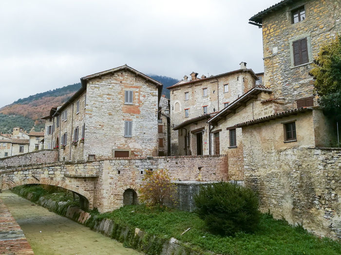Gubbio old town, Italy Architecture Built Structure Building Exterior Building Residential District Old Nature House Day No People Window Wall Outdoors Town Stone Wall Gubbio Perugia Italy Italian Landmark Medieval Cityscape TOWNSCAPE