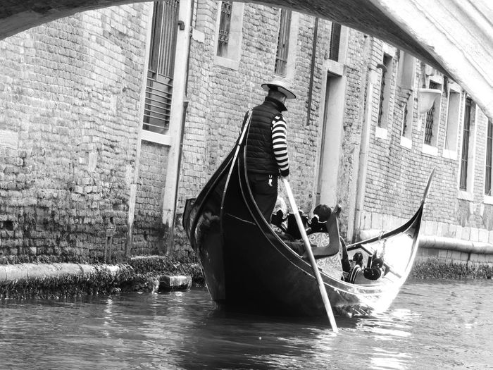 View of boat in canal