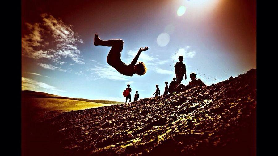 People enjoying at the sky